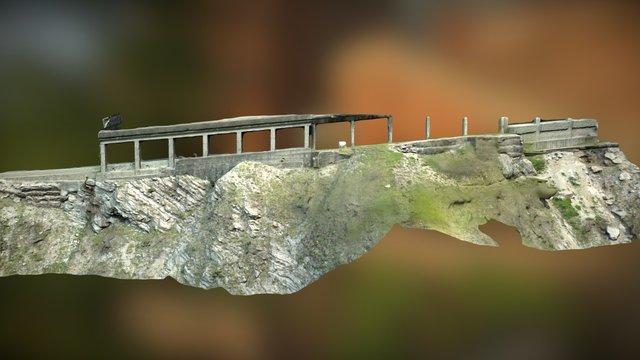 LATITUDE DRONE - Relevé en falaise 3D Model