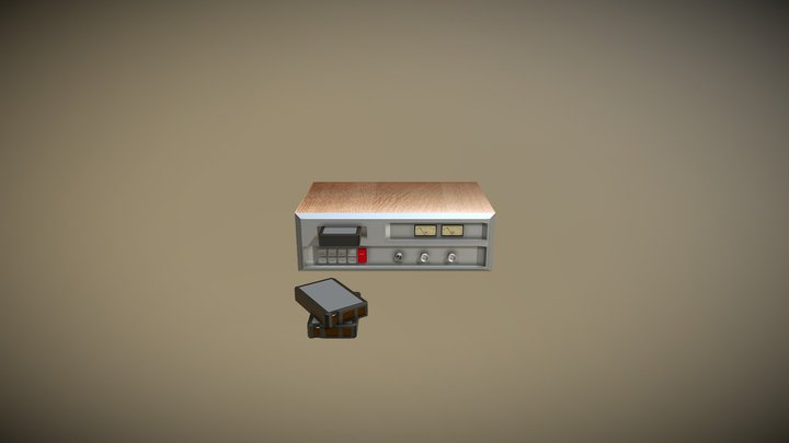 8TRACK STEREO PLAYER 3D Model