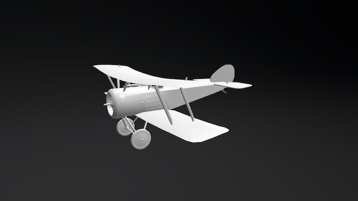 Sopwith Pup - First World War Airplane 3D Model