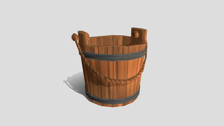 Stylized Bucket 3D Model