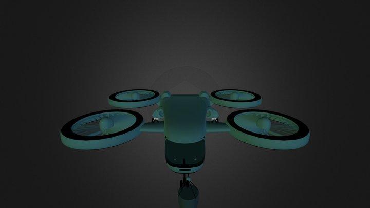 QUAD COPTER CRANE 3D Model