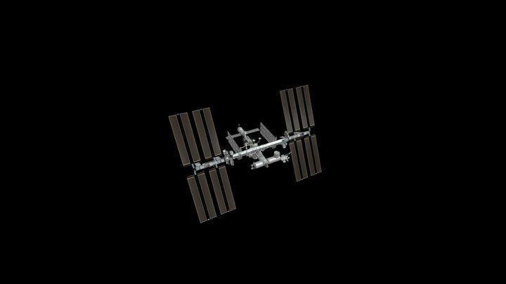 La Station Spatiale Internationale (ISS) 3D Model