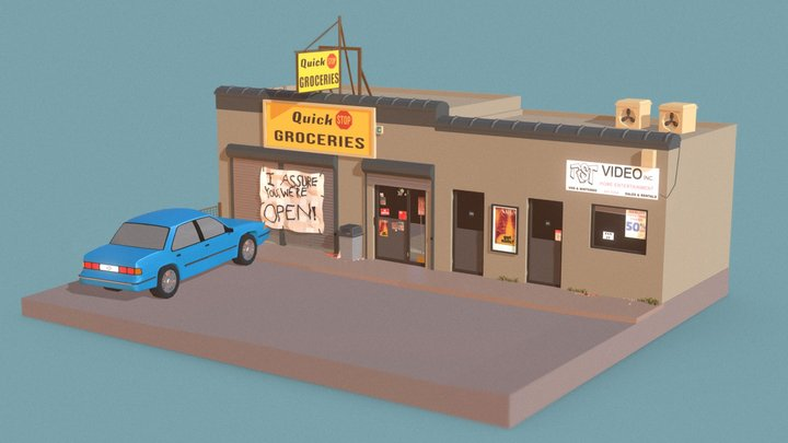 Jay And Silent Bob Quick Stop 3D Model