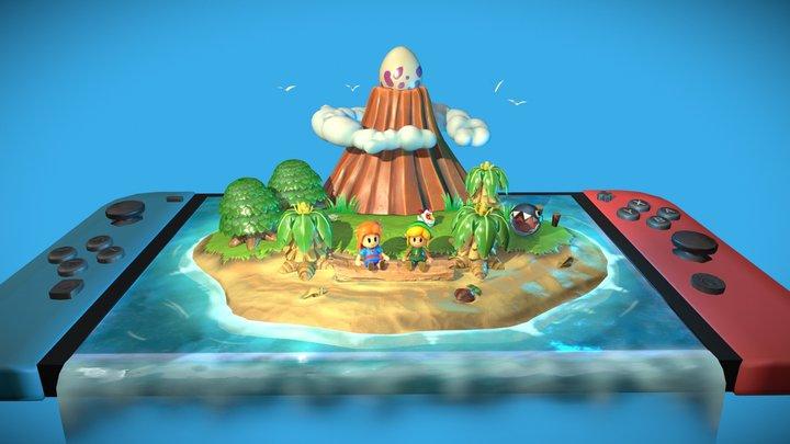 Link's Awakening Koholint Island 3D Model