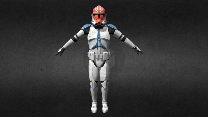 Clone Trooper Phase2 (332nd) 3D Model