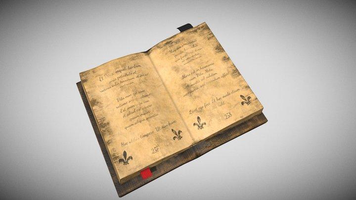 Old Renaissance Book 3D Model