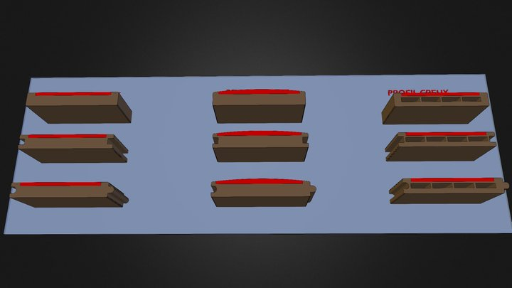 profiles AREA bicolor 3D Model