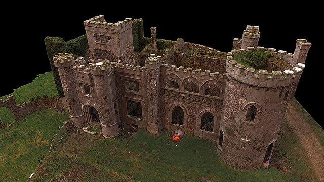 Clifden Castle in Ireland 3D Model