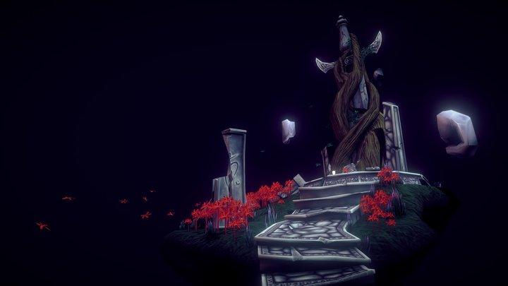 Forgotten Warrior's Shrine Diorama 3D Model