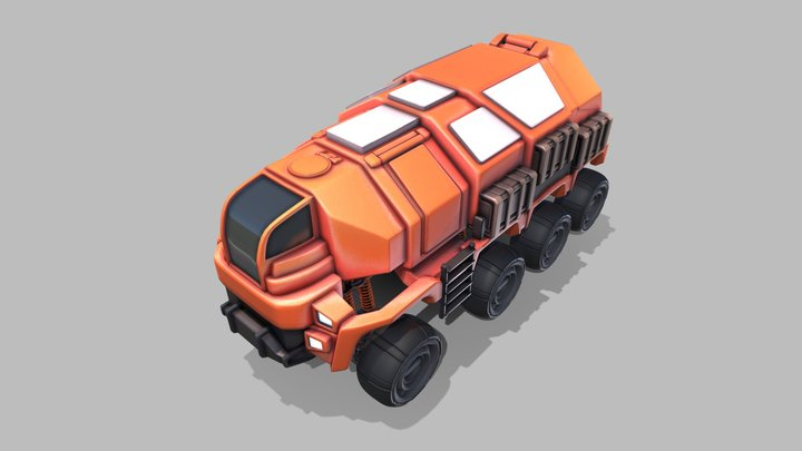 Scifi truck (animated and full rig) 3D Model