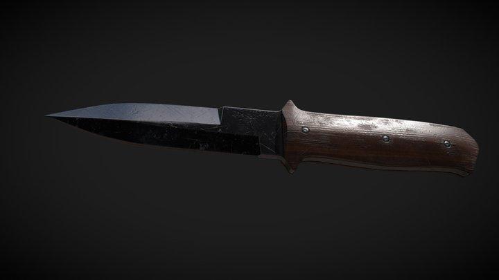Knife wood grip 3D Model