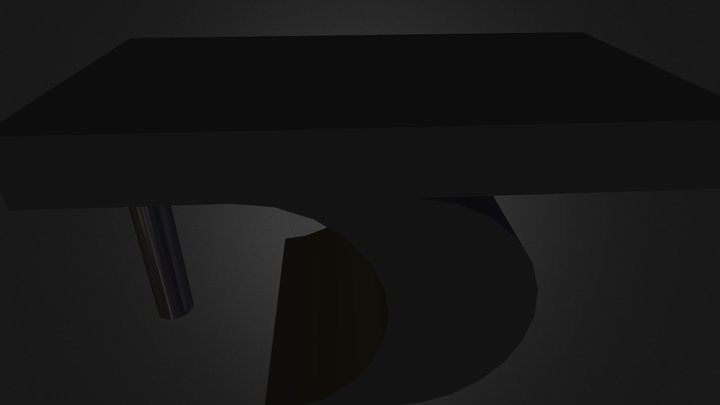 Entrance Table.dae 3D Model