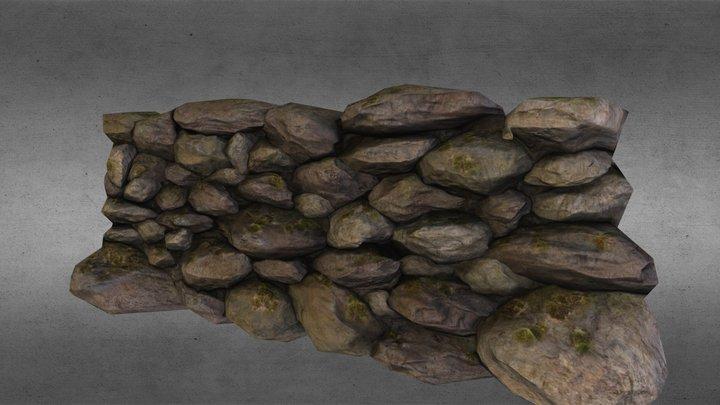 ACarrollRockWall.obj 3D Model