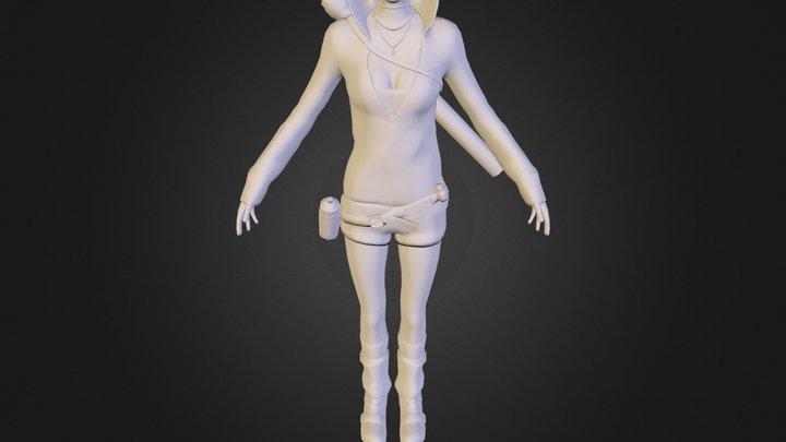 kat_hood_up.obj 3D Model