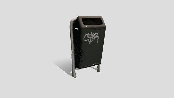 public dutch trashcan 02 3D Model