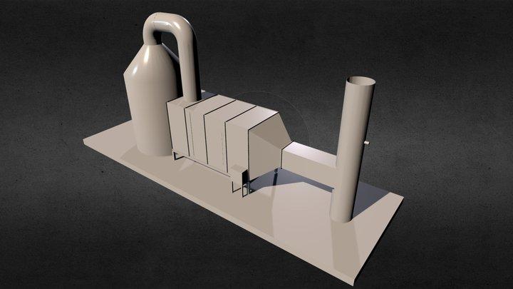 Static & Deodorize Equipment 3D Model