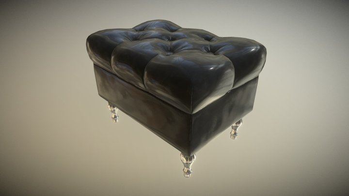 Furniture ArchViz Puff 3D Model