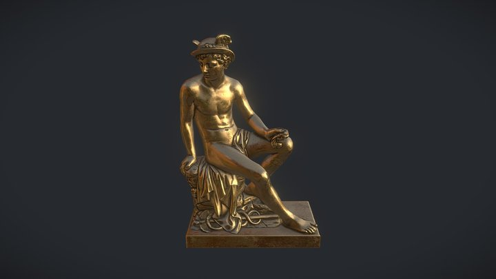 Sculpture of Mercury 3D Model