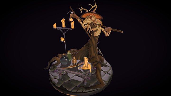 Wendigo Summoning Camp 3D Model
