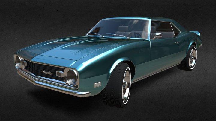 Camaro 1968 3D Model