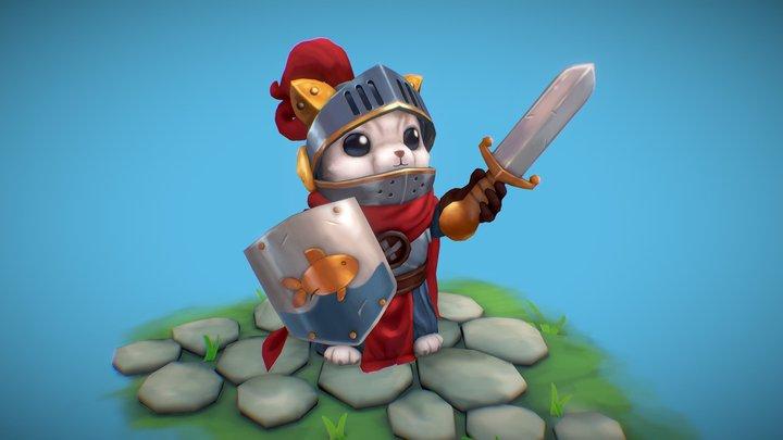 Cat Knight 3D Model