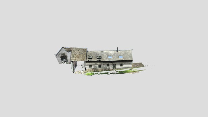 Low Res House Export 3D Model