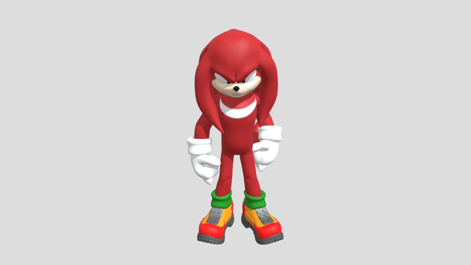 Sonic The Hedgehog Movie 20 Knuckles   Download Free 20D model by ...