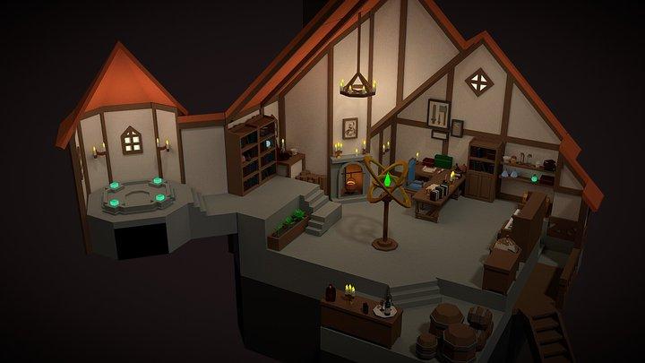The Great Sorcerer's Room 3D Model
