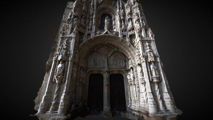 Door of Santa Maria de Belem 3D Model