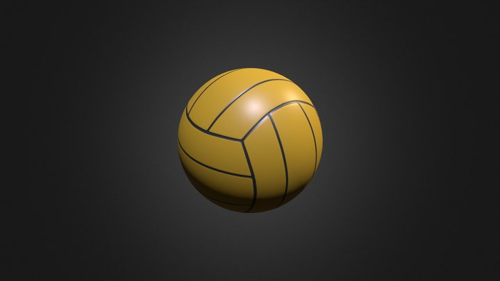 Waterpolo ball 3D Model