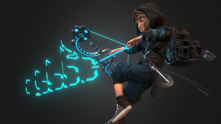 Sci-fi Archer 3D Model