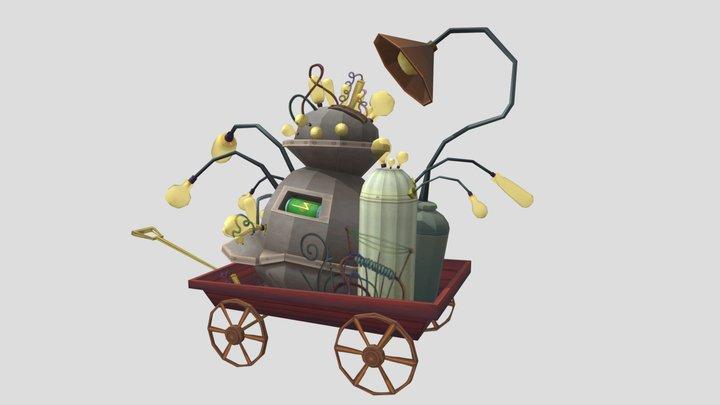 Wagon o Bulbs 3D Model