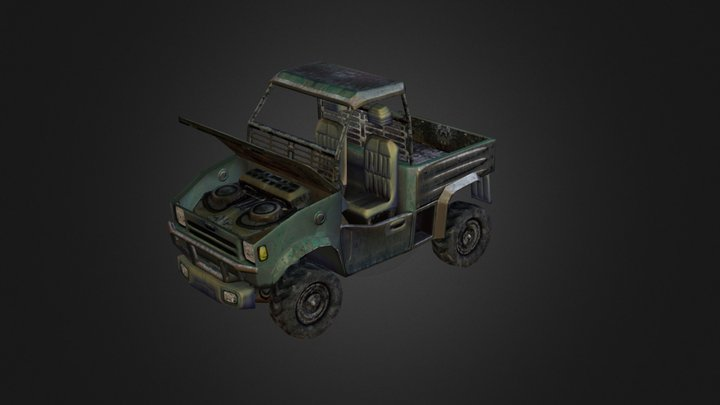 Side by Side UTV Mini Truck 3D Model