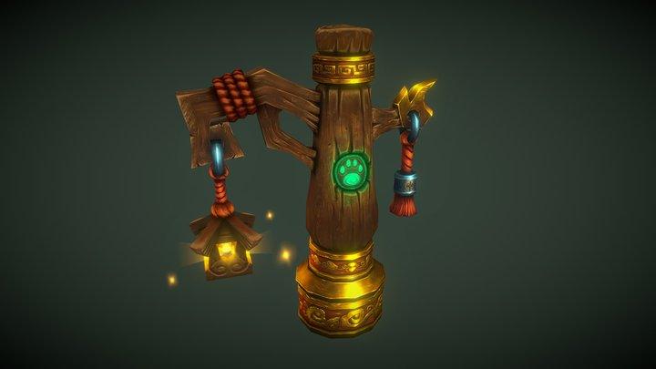 Pandaren Lantern 3D Model
