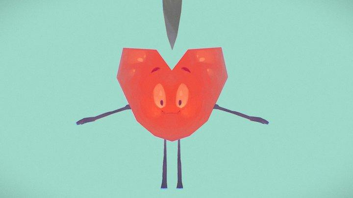 Heart-Orange guy 3D Model