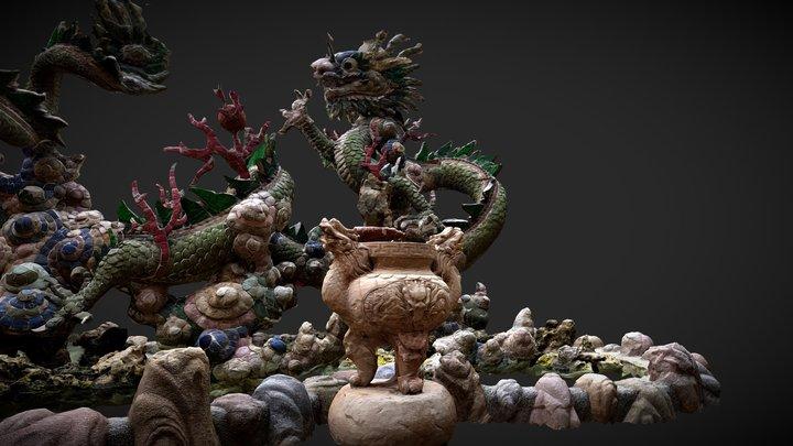 Dragon Sculpture, Hue Vietnam 3D Model