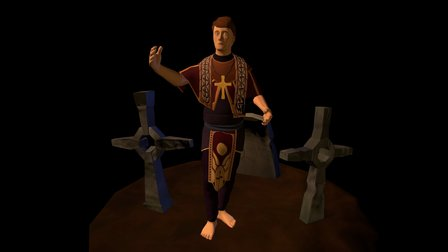 Village Priest 3D Model