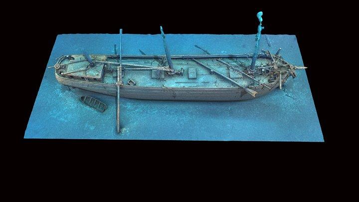 Cornelia B. Windiate Shipwreck -textured 3D Model