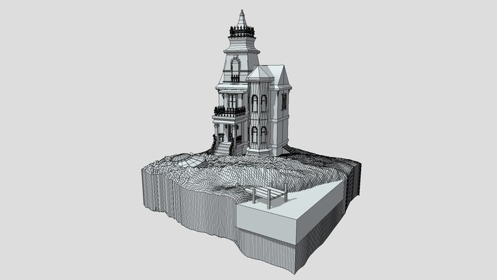 Cube World (wireframe) 3D Model