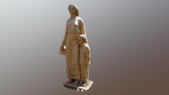 Bolgárkertész Emlékmű (részlet) 3D Model