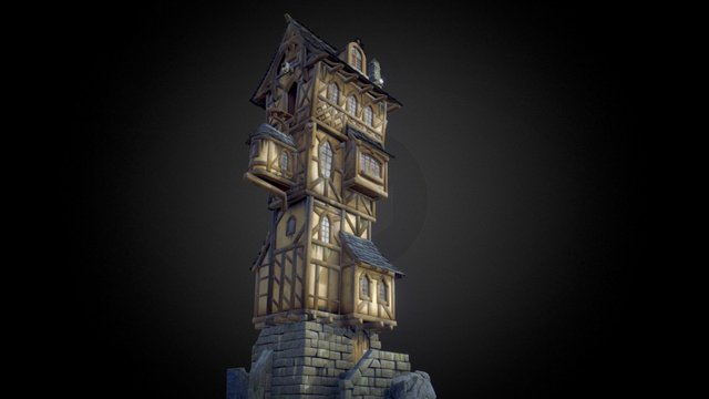 THE-CLIFF-TOWER 3D Model