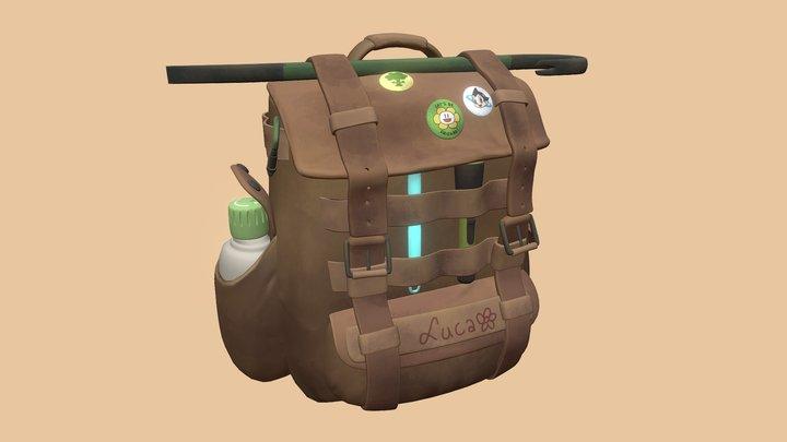 Luca's backpack (READ-ONLY MEMORY) 3D Model