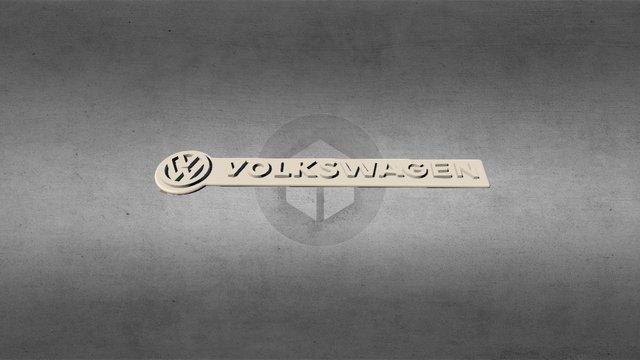 Volkswagen Keychain 3D Model