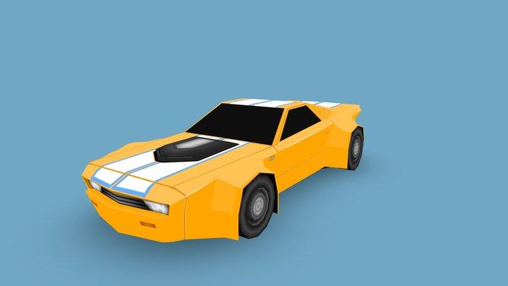 Yellow Racer 3D Model