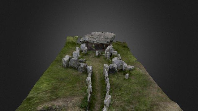 La Pouquelaye de Faldouet Neolithic Passage Tomb 3D Model
