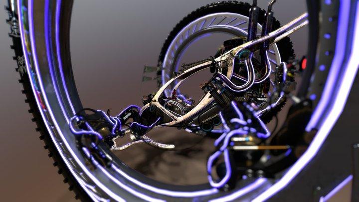 Fantasy Spider Desert Buggy For VR Project 3D Model