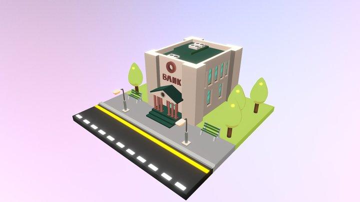Isometric: Bank 3D Model