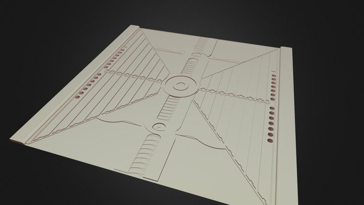 [EnvArt] Rel Sci Fi Ground Tile 1 3D Model
