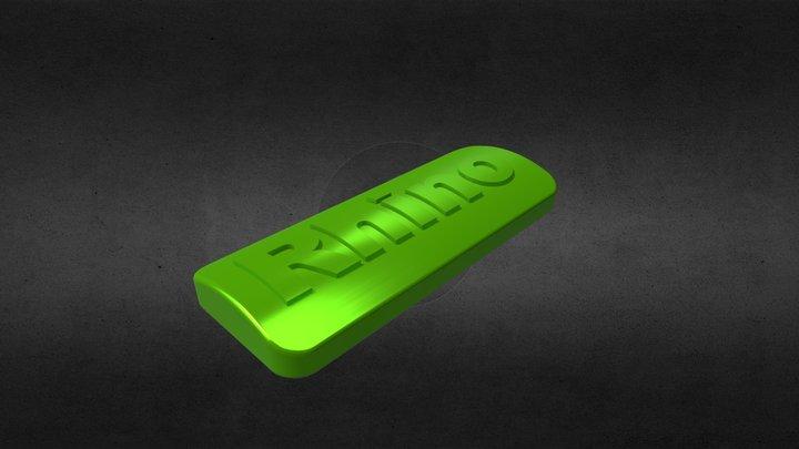 Barra con Rhino 3D Model