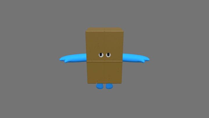 Fall Guy Cardboard Box Costume 3D Model